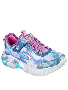 skechers-girls-rainbow-racer-lights-trainer-blue