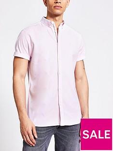 river-island-short-sleevednbspoxford-shirt--nbsplight-pink
