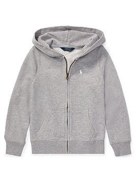 ralph-lauren-girls-classic-zip-through-hoodie-grey