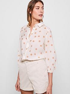 mint-velvet-spot-print-puff-sleeve-shirt-cream