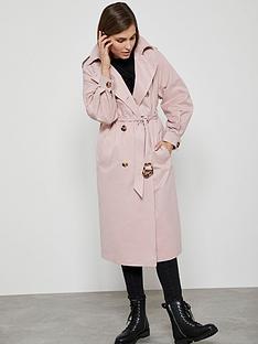 mint-velvet-pleat-sleeve-trench-coat-pink