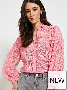 mint-velvet-floral-burnout-shirt-pink
