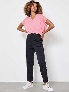 mint-velvet-parachute-cargo-trouser-black