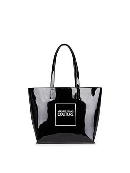 versace-jeans-couture-patent-logo-tote-bag-black