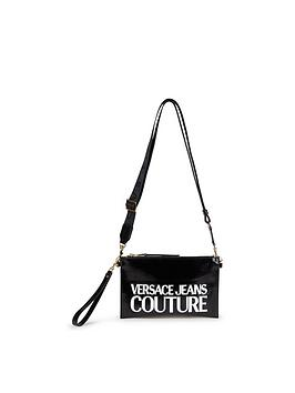 versace-jeans-couture-logo-crackle-cross-body-pouch-black