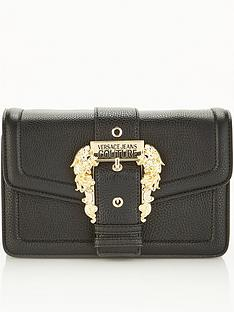 versace-jeans-couture-buckle-cross-body-bag-black