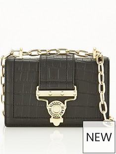 versace-jeans-couture-buckle-leather-cross-body-bag-black
