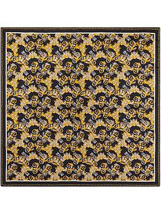 versace-jeans-couture-baroque-print-silk-scarf-black