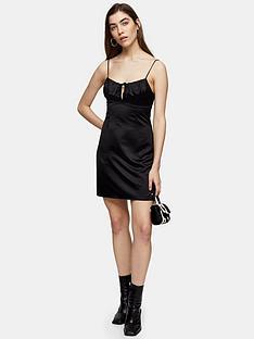 topshop-tie-bustier-mini-slip-dress-black
