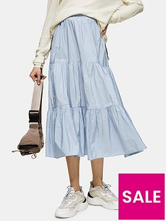 topshop-taffeta-tiered-midi-skirt-blue