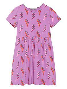 mintie-by-mint-velvet-girls-lightning-print-jersey-short-sleeve-dress-purple