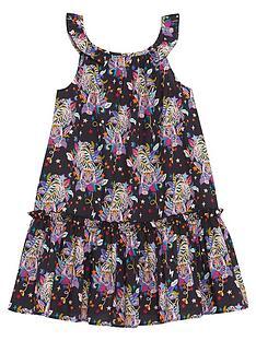 mintie-by-mint-velvet-girls-tiger-print-sleeveless-woven-dress-charcoal