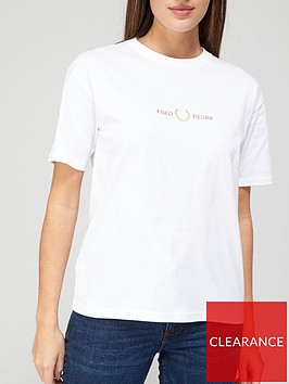 fred-perry-logo-t-shirt-white