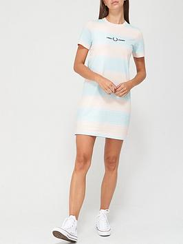 fred-perry-striped-jersey-dress-multi