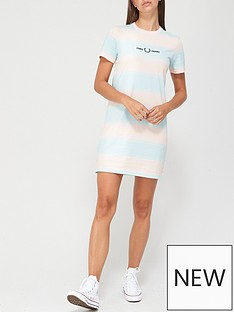 fred-perry-striped-jersey-dress