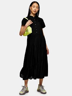 topshop-grandad-collar-midi-shirtdress-black
