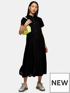 topshop-grandad-collar-midi-shirtdress-black