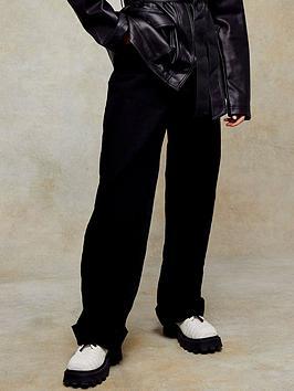 Topshop Oversized Mom Jeans - Black