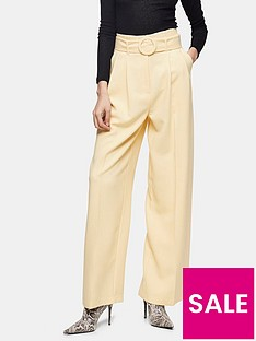 topshop-hannah-marl-wide-leg-trousers-cream