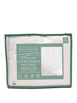 Cascade Home Hotel Collection Extra Deep Luxury Bamboo Mattress Protector  King Size