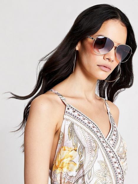 river-island-chain-arm-aviator-sunglasses-gold