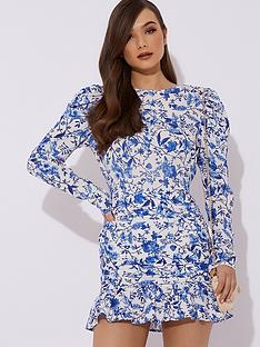 in-the-style-in-the-style-x-lorna-luxe-practically-perfect-porcelain-mini-dress-blue
