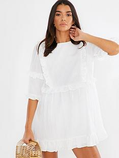 in-the-style-in-the-style-x-lorna-luxe-girls-girlnbsprufflenbspmini-dress-white