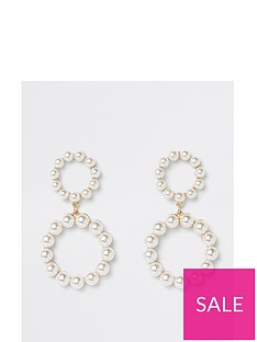 river-island-pearl-ring-double-drop-earrings-white