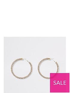 river-island-river-island-bobble-rope-hoop-earrings-gold