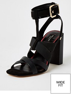 river-island-wide-fit-stappy-block-heel-sandal-black