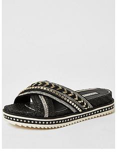 river-island-embellished-cross-strap-flatform-sandals-black