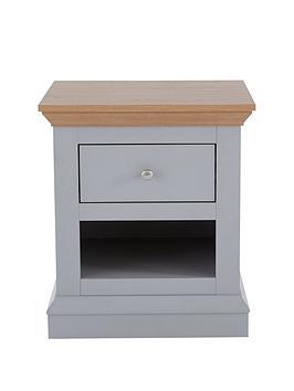 Hanna Lamp Table - Grey/Oak Effect