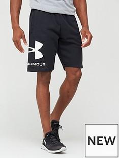 under-armour-rival-big-logo-shorts-blackwhite