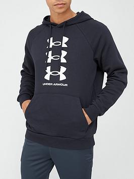 under-armour-training-rival-fleece-multi-logo-hoodie-blackwhite