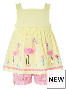 monsoon-sew-baby-girls-fifi-flamingo-set-yellow
