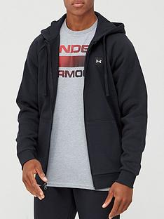 under-armour-rival-fleece-full-zip-hoodie-blackwhite