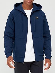 under-armour-rival-fleece-full-zip-hoodie-navywhite
