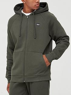under-armour-rival-fleece-full-zip-hoodie-greenwhite