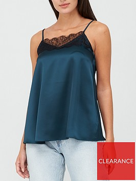 v-by-very-lace-trim-cami-top-teal