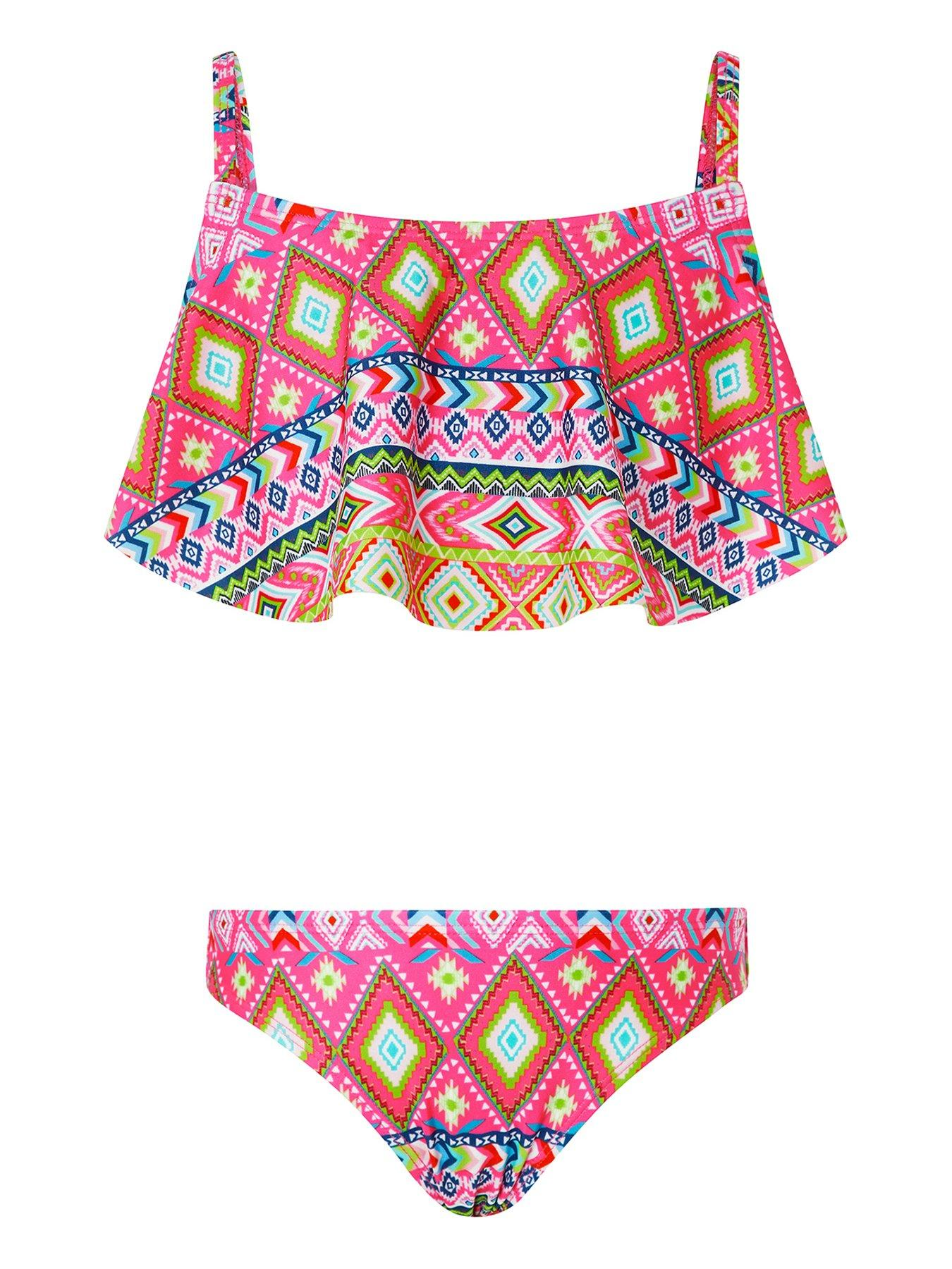 Ages 7-16Yrs Girls Summer Pink Bikini//Swimwear