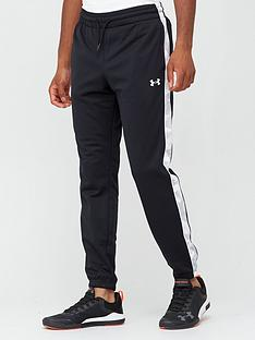 under-armour-sportstyle-tricot-camo-track-pants-blackwhite