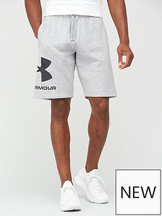under-armour-rival-big-logo-shorts-greywhite