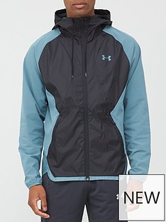 under-armour-stretch-woven-hooded-jacket-blue