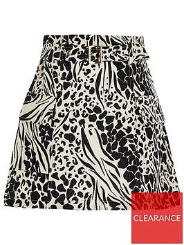 river-island-girls-animal-print-belted-utility-skirt--black