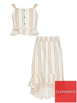 river-island-girls-stripe-frill-crop-and-skirt-setnbsp-nbspbeige