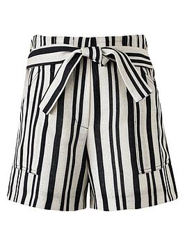 river-island-girls-tie-waist-stripe-shortsnbsp-nbspbeige
