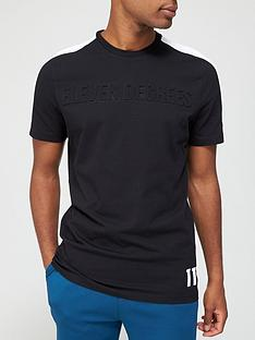 11-degrees-embossed-graphic-arm-panel-t-shirt-blacknbsp