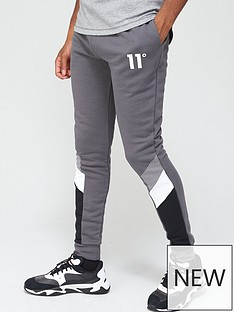 11-degrees-mercury-mesh-print-cut-and-sew-joggers-skinny-fit-slatenbsp