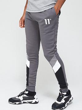 11-degrees-mercury-mesh-print-cut-and-sew-joggers-skinny-fit-slatenbsp