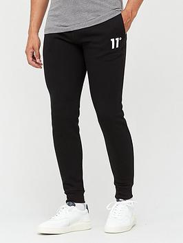 11-degrees-core-regular-fitnbspjoggersnbsp--black